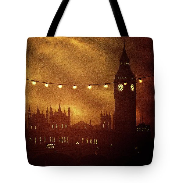 Tote Bag featuring the digital art Big Ben At Night by Fine Art By Andrew David