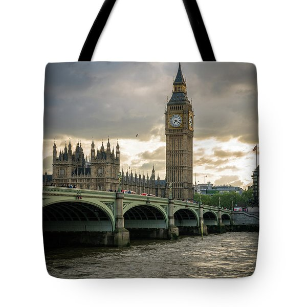Big Ben At Sunset Tote Bag