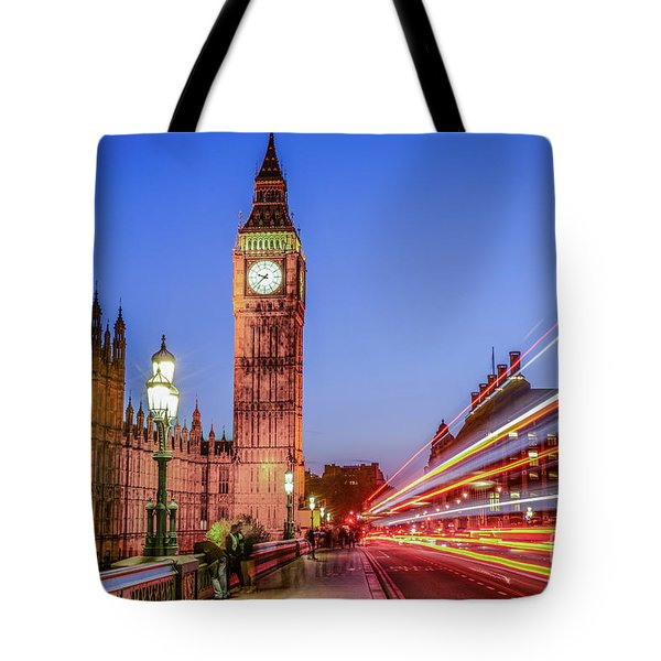 Big Ben By Night Tote Bag