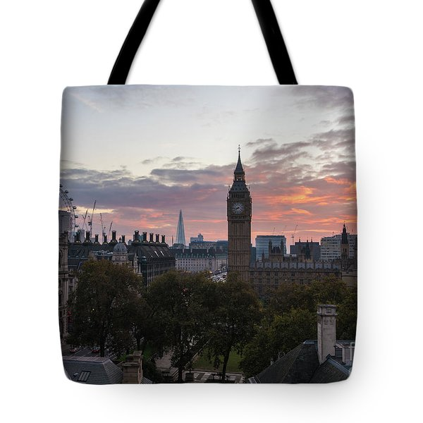 Big Ben London Sunrise Tote Bag by Mike Reid