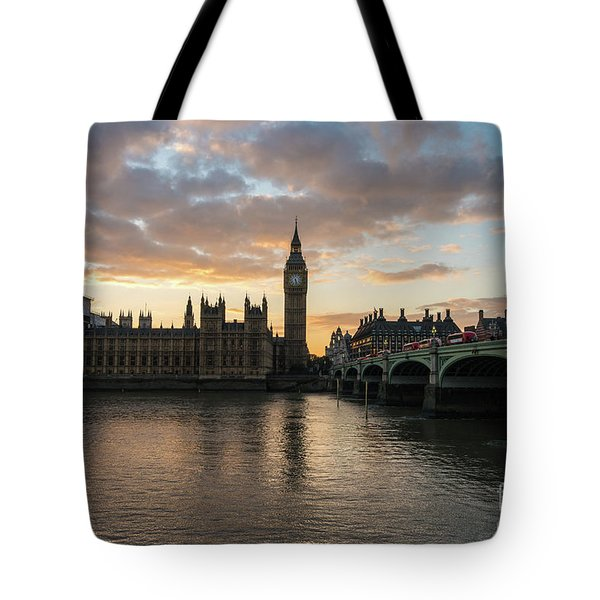 Big Ben London Sunset Tote Bag by Mike Reid