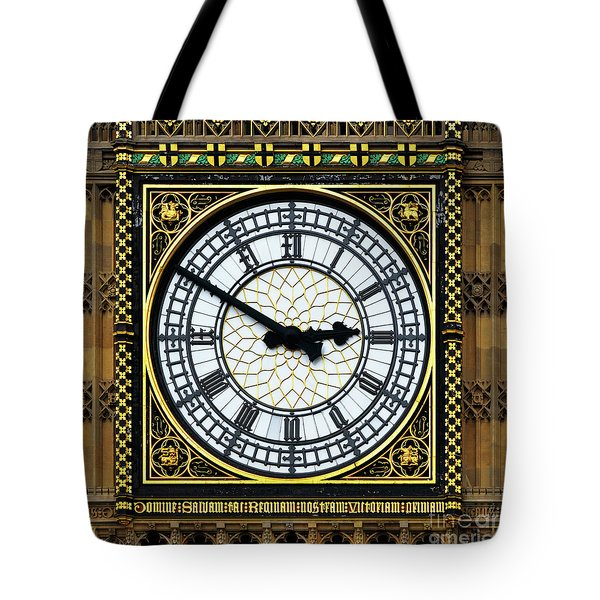 Big Ben Square Portrait Tote Bag