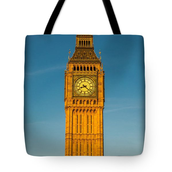 Big Ben Tower Golden Hour London Tote Bag