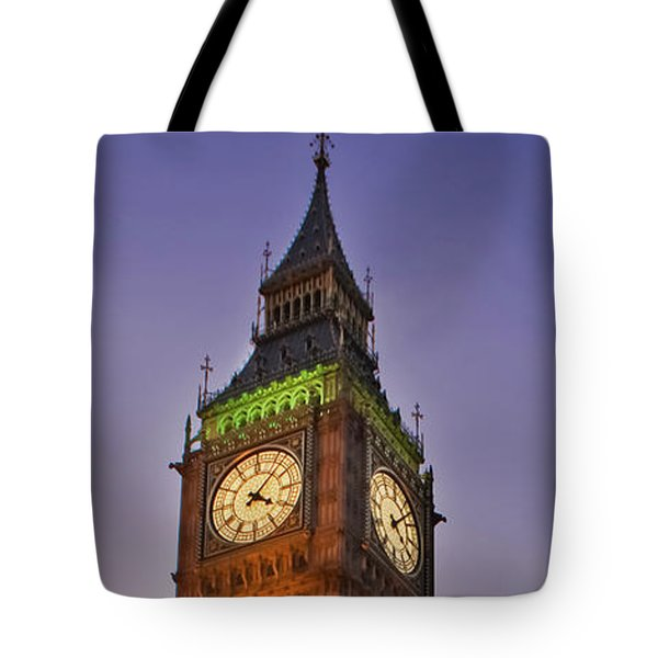 Tote Bag featuring the photograph Big Ben Twilight In London by Terri Waters