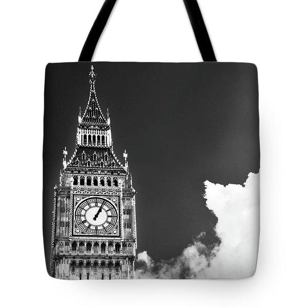 Big Ben With Cloud Tote Bag