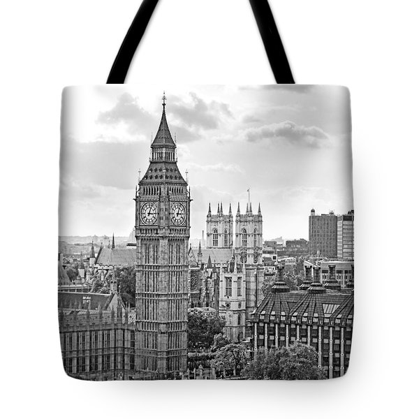 Big Ben With Westminster Abbey Tote Bag