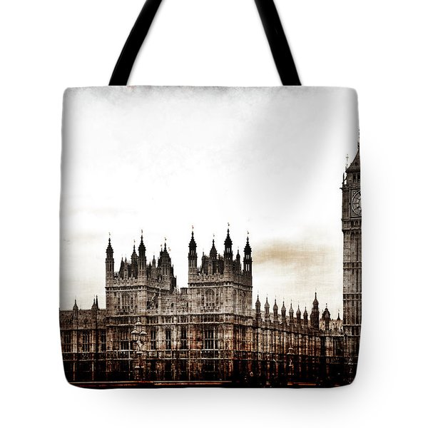 Big Bend And The Palace Of Westminster Tote Bag