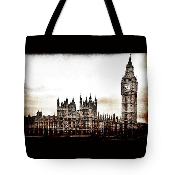Tote Bag featuring the photograph Big Bend And The Palace Of Westminster by Jennifer Wright