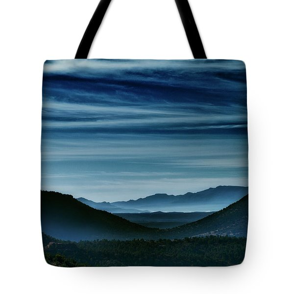 Big Bend At Dusk Tote Bag