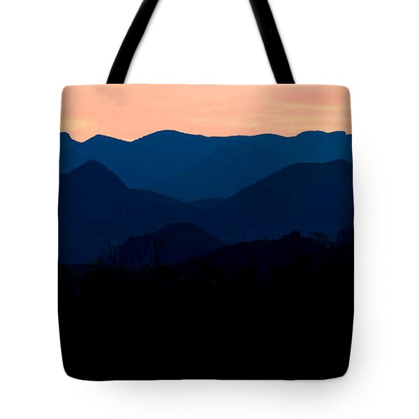 Big Bend Orange Blue Layers Tote Bag