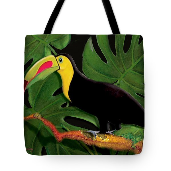 Tote Bag featuring the painting Big Bill by Anne Beverley-Stamps