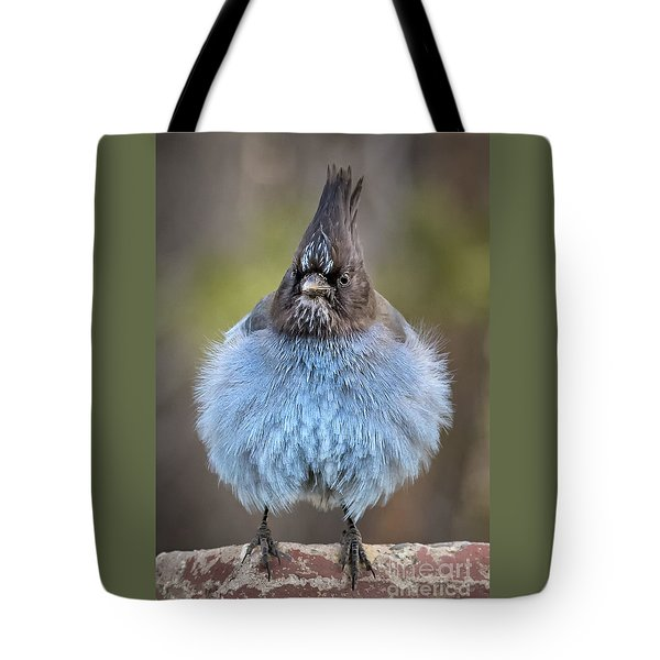 Big Blue Tote Bag by Alice Cahill