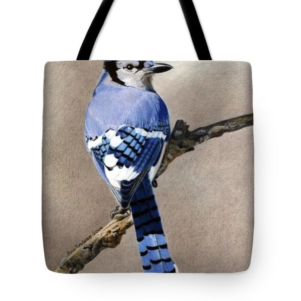 Big Blue Jay Tote Bag