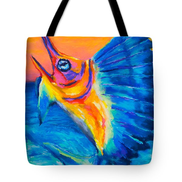 Big Blue Tote Bag by Stephen Anderson
