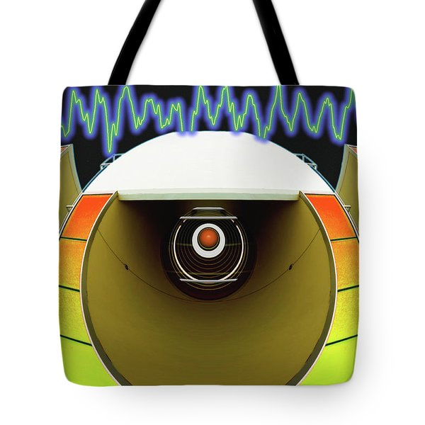 Tote Bag featuring the digital art Big Boom Box by Wendy J St Christopher