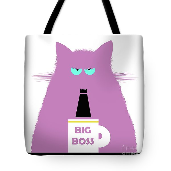 Big Boss Lilac Cat Tote Bag