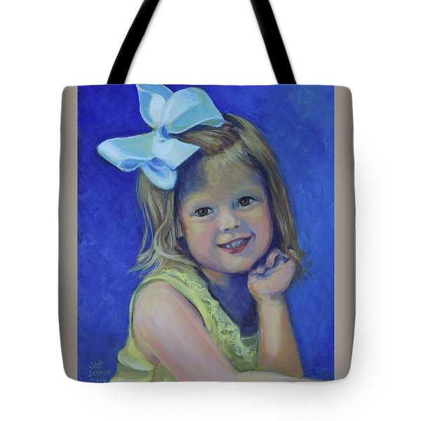 Big Bow Little Girl Tote Bag