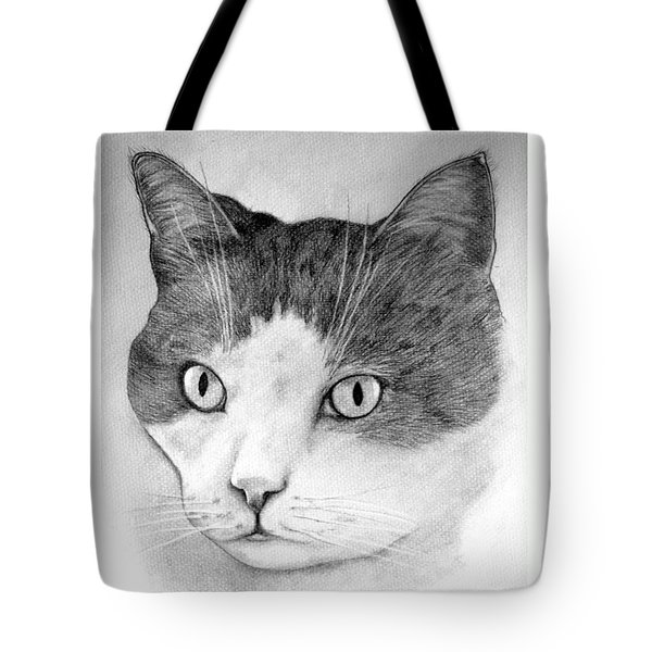 Tote Bag featuring the drawing Big Boy Baily by John Stuart Webbstock