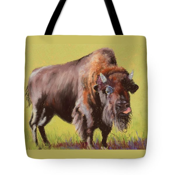 Tote Bag featuring the painting Big Boy by Nancy Jolley