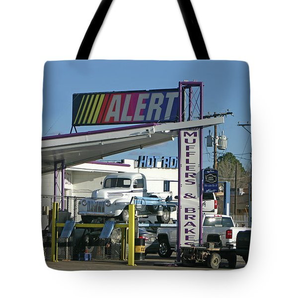Tote Bag featuring the photograph Big Boy Toy Repair by Jack Pumphrey