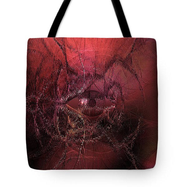 Big Brother Watches From The Strangest Places - Red Tote Bag
