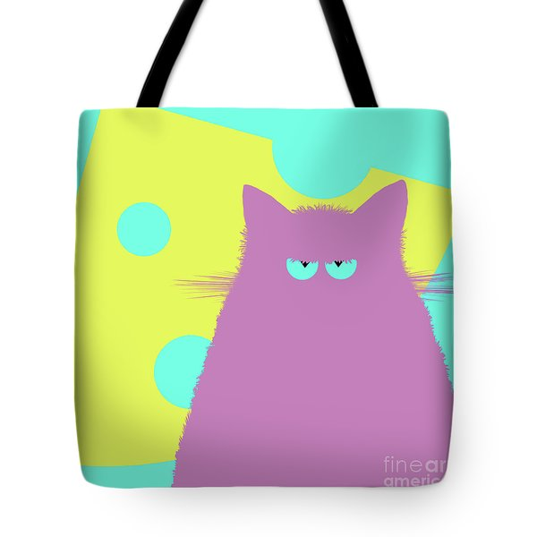 Big Cheese Lilac Cat Tote Bag