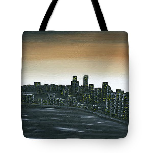 Big City Lights Tote Bag by Kenneth Clarke