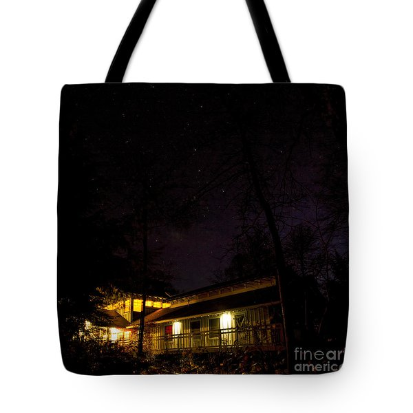 Tote Bag featuring the photograph Big Dipper Over Hike Inn by Barbara Bowen
