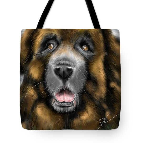 Tote Bag featuring the digital art Big Dog by Darren Cannell