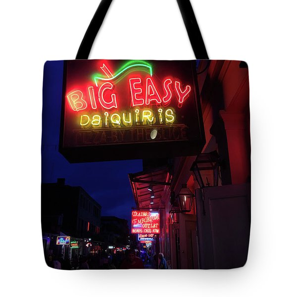 Tote Bag featuring the photograph Big Easy Sign by Steven Spak
