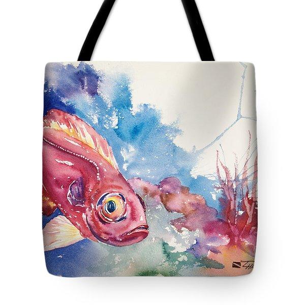 Big Eye Squirrelfish Tote Bag by Tanya L Haynes - Printscapes