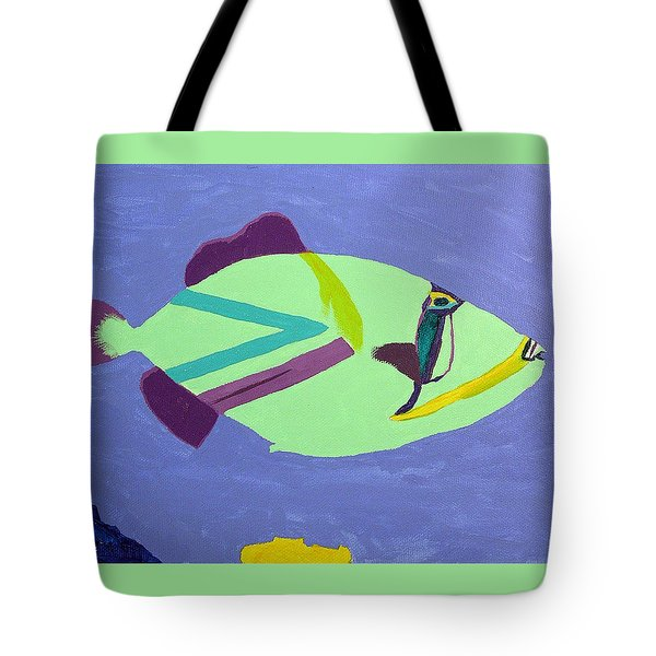 Big Fish In A Small Pond Tote Bag by Karen Nicholson