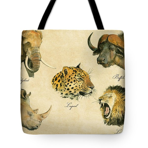 Big Five Poster Tote Bag