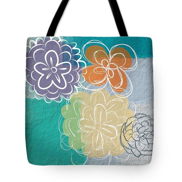 Big Flowers Tote Bag by Linda Woods