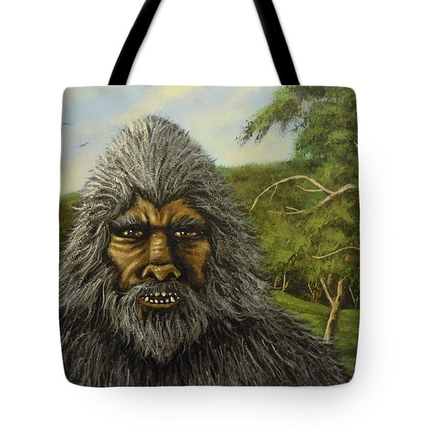 Tote Bag featuring the painting Big Foot In Pennsylvania by James Guentner