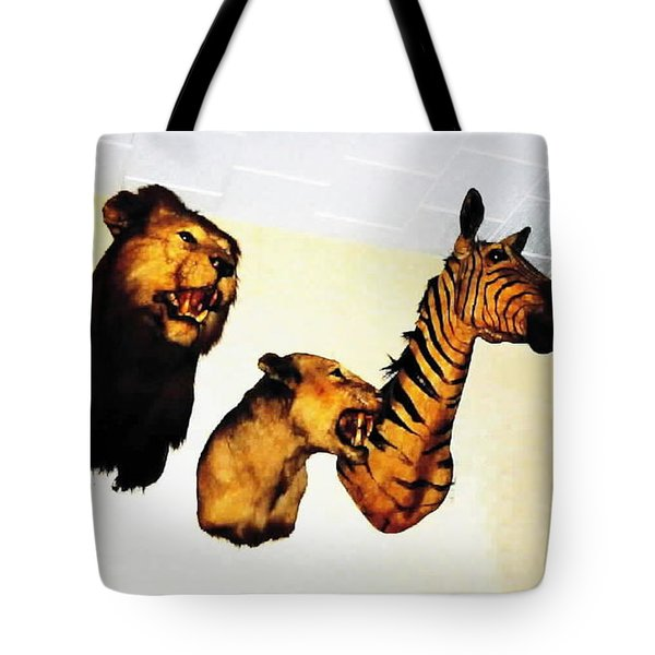 Big Game Africa - Zebras And Lions Tote Bag by Sadie Reneau