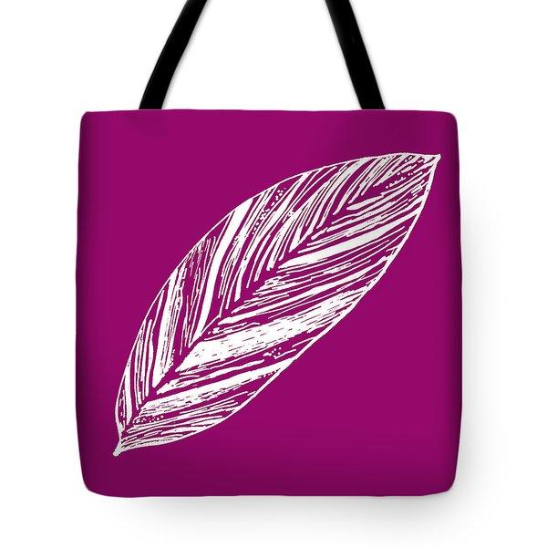 Big Ginger Leaf - Magenta Tote Bag