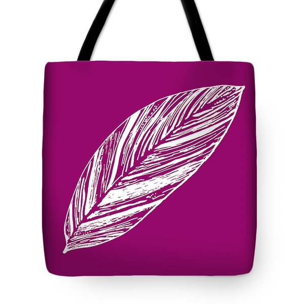 Big Ginger Leaf - Magenta Tote Bag