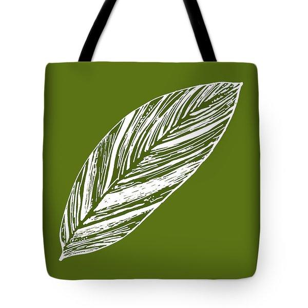 Big Ginger Leaf - Olive Tote Bag