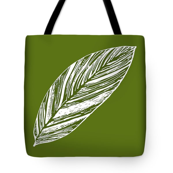 Big Ginger Leaf - Olive Tote Bag