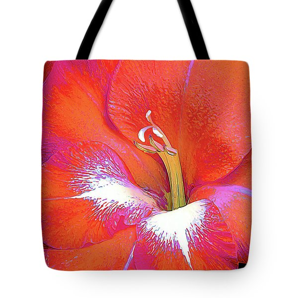 Big Glad In Orange And Fuchsia Tote Bag