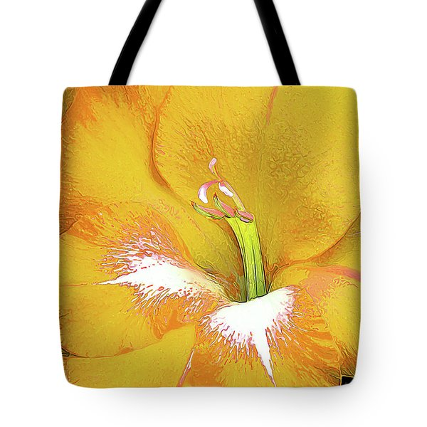 Big Glad In Yellow Tote Bag