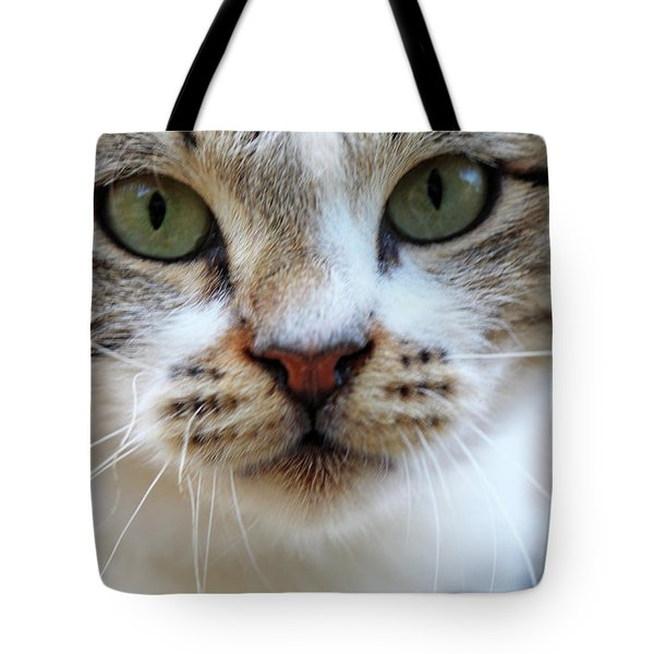 Tote Bag featuring the photograph Big Green Eyes by Munir Alawi