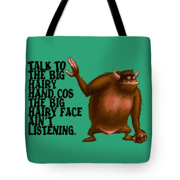 Big Hairy Hand Tote Bag