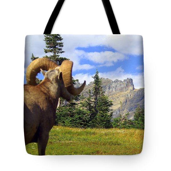 Big Horn 3 Tote Bag by Marty Koch