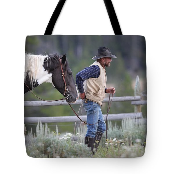 Big Horn Cowboy Tote Bag by Diane Bohna