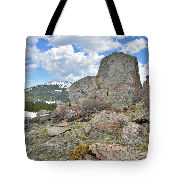 Big Horn Pass Rock Croppings Tote Bag