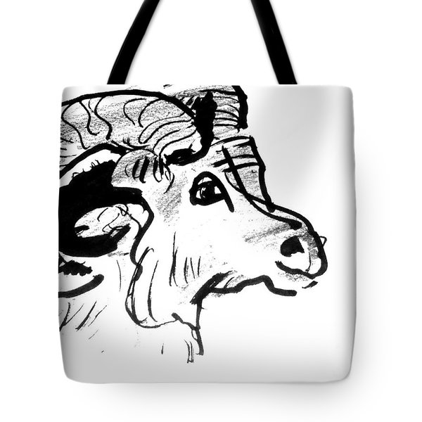 Big Horn Sheep  Sketch Tote Bag