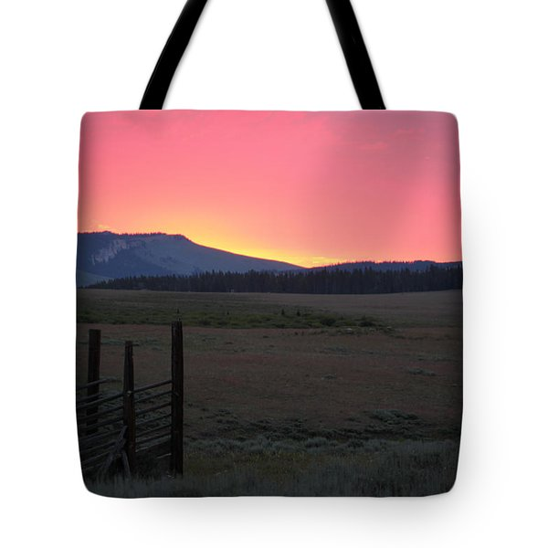 Big Horn Sunrise Tote Bag by Diane Bohna