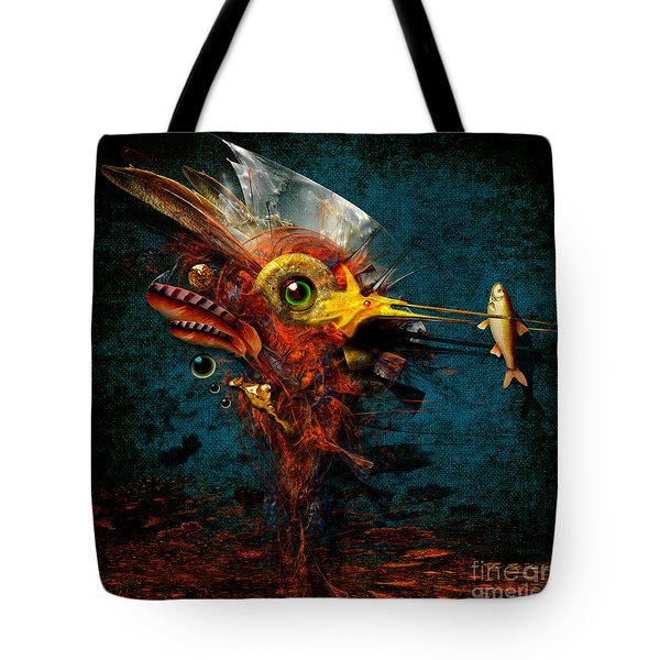 Tote Bag featuring the painting Big Hunter by Alexa Szlavics